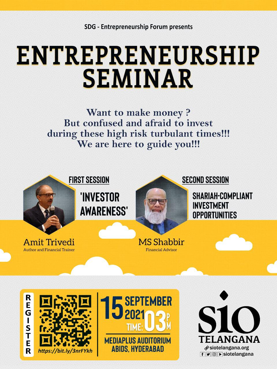 Business opportunities & Entrepreneurship Seminar in Hyderabad by SIO Telangana